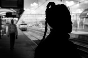 Silhouet portretfoto