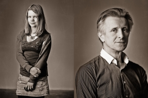 Zwart-wit portretstudio