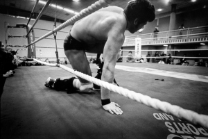 Reportage photography wrestling