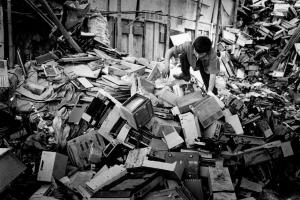 Black & white photo reportage